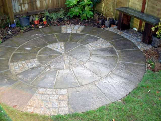 patio designs the usage of slabs
